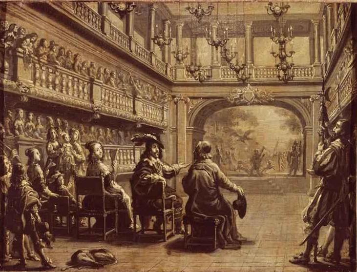 Représentation de Mirame au palais Cardinal devant Louis XIII, Anne d'Autriche et Richelieu, par Jean de Saint-Igny (vers 1600-1647)